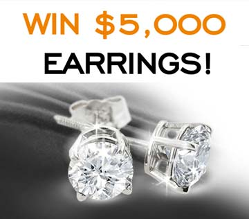 Win 1ct $5,000 Diamond Earring's from SuperJeweler